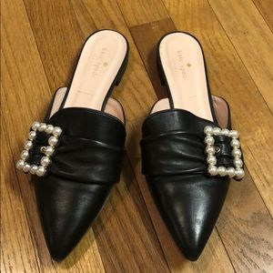 Kate Spade Broadway Slides with Pearl Buckle sz 9